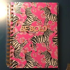"Posh + Pop Office - NWT ""Be Bold"" Pink Zebra Spiral Notebook"